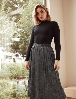 Forever New Sierra Metallic Co-Ord Skirt - Black/Metallic - 4