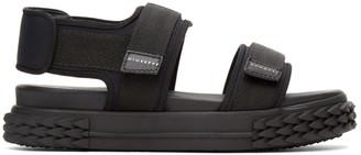 Giuseppe Zanotti Black Carlito Flat Sandals