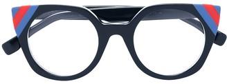 Fendi Eyewear Colour-Block Cat Eye Glasses