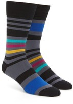 Paul Smith Men's Odd Block Stripe Socks