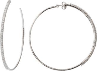 Mattia Cielo Rugiada Collection Tennis Diamond Hoop Earrings