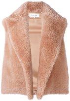 Helmut Lang shearling vest - women - Silk/Lamb Fur - S