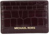 MICHAEL Michael Kors crocodile effect card holder