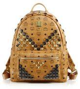 MCM Stark M Stud Medium Coated Canvas Backpack