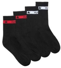 HUGO Two-pack of short socks with logo bands