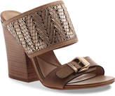Nicole Women's Lanette Sandal -Cognac/Gold