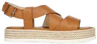 Via Spiga Grayce Rope & Leather Flatform Slingback Sandals