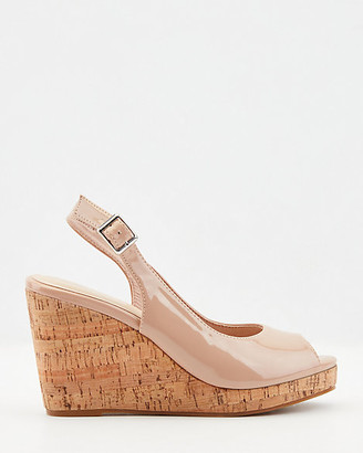 Le Château Patent Faux Leather Wedge Sandal