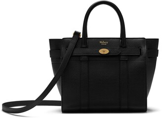 Mulberry Mini Zipped Bayswater Black Small Classic Grain