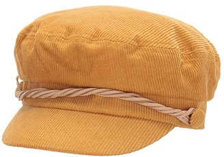 San Diego Hat Company CTH8163 Cord Fisherman Cap with Faux Suede Trim (Mustard) Caps