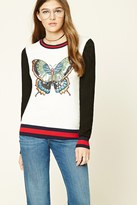 Forever 21 FOREVER 21+ Sequined Butterfly Sweater