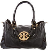 Tory Burch Patent & Grained Leather Satchel