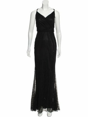 Dolce & Gabbana Lace Sleeveless Gown Black