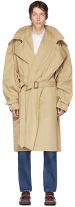 Y/Project Beige Infinity Trench Coat