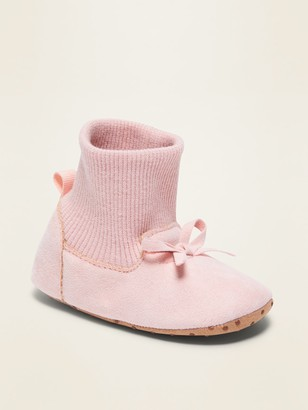 Old Navy Faux-Suede Sock Booties for Baby