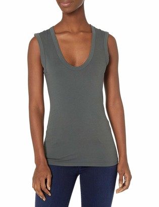 Velvet by Graham & Spencer Women's Estina Gauzy Whisper Classics Scoopneck Muscle Tank