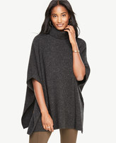 Ann Taylor Cashmere Flecked Ribbed Poncho