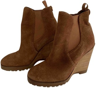 Michael Kors Brown Suede Ankle boots