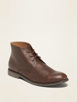 Old Navy Faux-Leather Chukkas for Men