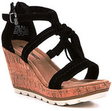 Minnetonka Lincoln Tassel Wedge Sandals