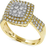 Effy Pave Rose by Diamond Square Ring in 14k White, Yellow or Rose Gold (3/4 ct. t.w.)