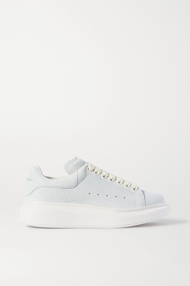 Alexander McQueen Two-tone Leather Exaggerated-sole Sneakers - Off-white