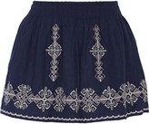 Joie Almanza embroidered cotton mini skirt