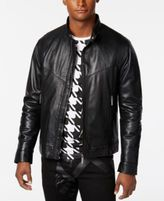 Versace Men's Perforated Leather Jacket