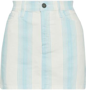 Frame Striped Denim Mini Skirt