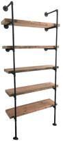 Bentley Arc And Timber Bookshelf, Five Shelves