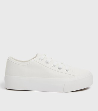 New Look Canvas Plain Lace-Up Trainers