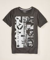DKNY Dark Heather Gray 'DKNY' Skyline Crewneck Tee - Boys