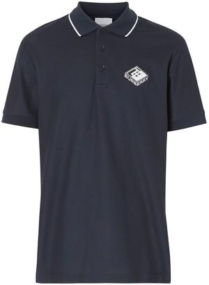 Burberry Logo Graphic Pique Polo Shirt