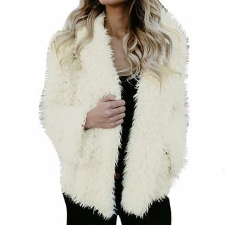 Lazzboy Womens Jacket Coat Teddy Fluffy Faux Fur Fleece Hooded Warm Outerwear UK 6-16(L(10)