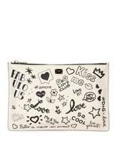 Dolce & Gabbana Graffiti Small Leather Crossbody Bag