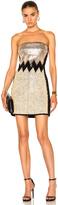 David Koma Plexi & Stones Embroidered Dress