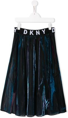 DKNY TEEN elasticated logo midi skirt