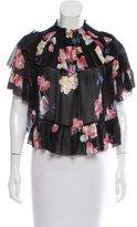Ulla Johnson Floral Off-The-Shoulder Floral Top