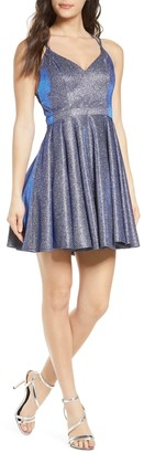 Sequin Hearts Glitter Party Dress
