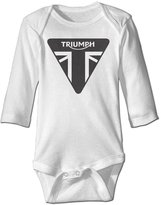 OULIKE Triumph Motorcycles Logo Long Sleeve Baby Climbing Clothes Bodysuit