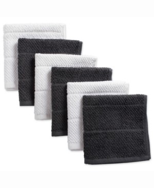 Design Imports Assorted Mineral Basic Chef Terry Dishcloth, Set of 6