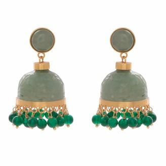Carousel Jewels Carved Aventurine Chandelier Earrings