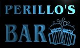AdvPro Name w010987-b PERILLO Name Home Bar Pub Beer Mugs Cheers Neon Light Sign