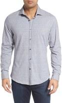 Stone Rose Print Knit Sport Shirt (Big & Tall)
