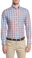 Peter Millar Cortina Plaid Sport Shirt, Barolo