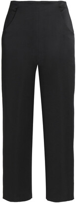Vanessa Seward Duchesse-satin Straight-leg Pants