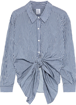 Rosie Assoulin Tie-front Striped Shell Shirt