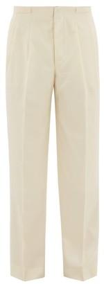 King & Tuckfield - Grant Straight-leg Cotton Trousers - Mens - Cream
