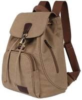 UP TOP Women Girls Multifunctional Canvas Backpack Drawstring Rucksack Travel Shoulder Bag