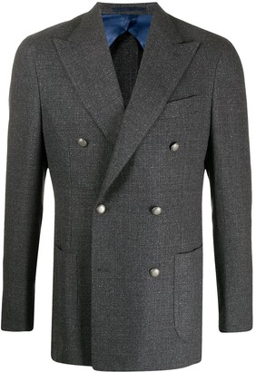 Barba Double-Breasted Fitted Blazer